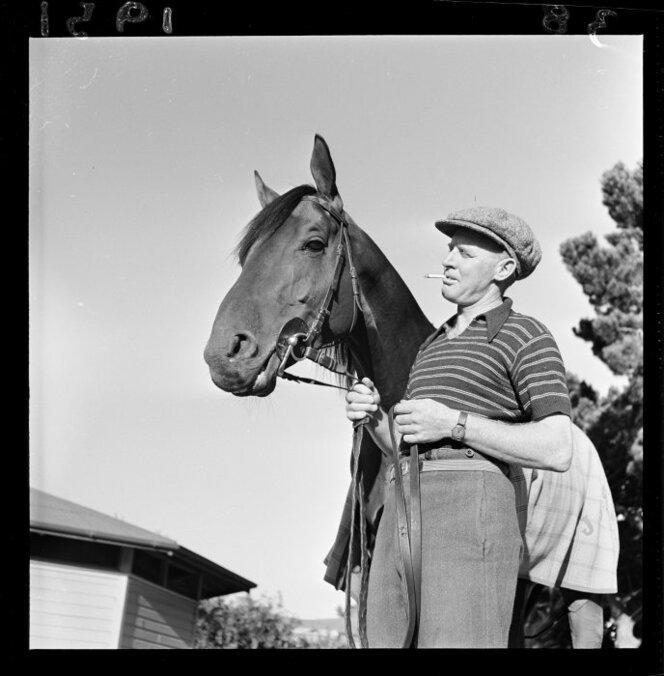 11 Jan 1951 The racehorse Beaumaris in training(1).jpg