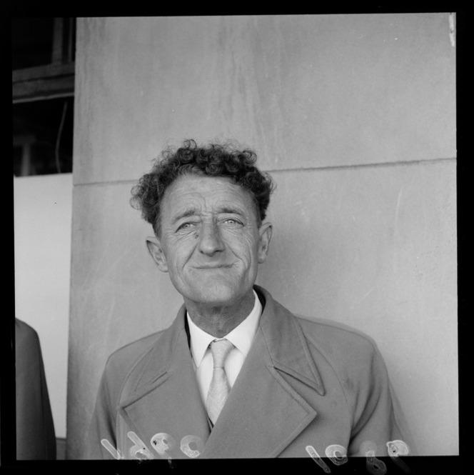 26 Mar 1960 Tui Stokes, jockey, at Trentham Racecourse, Upper Hutt, Wellington.jpg