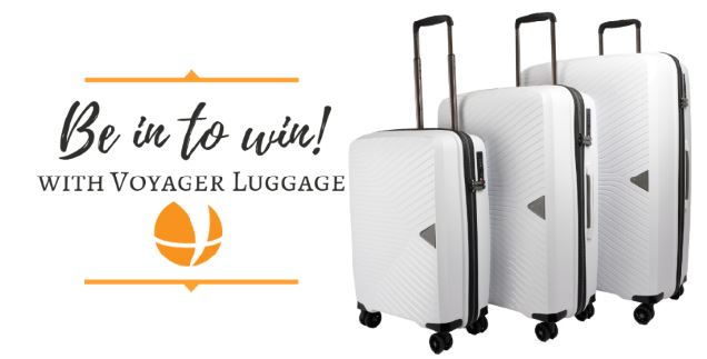 New Zealand Luggage Wholesaler Voyager Luggage Announce an Exciting Facebook Competition Giveaway Perfect For Your Next Overseas Trip!